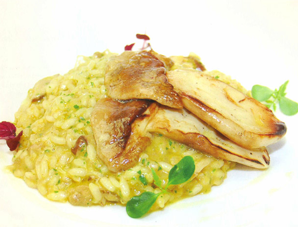 Risotto with Porcini & pumpkin sauce